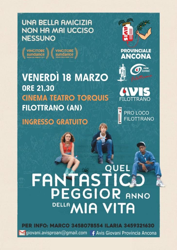 Locandina cineforum AVIS Filottrano