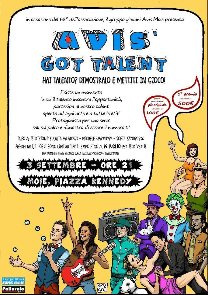 Volantino evento AVIS' GOT TALENT
